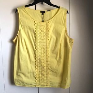 Embroidered Yellow Talbot's Tank Top in 20W